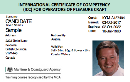 International Certificate of Competency (ICC)